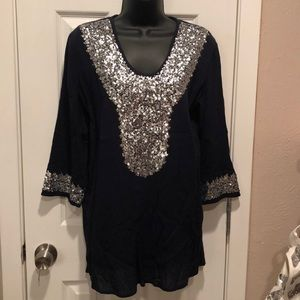 Chico's navy blue top